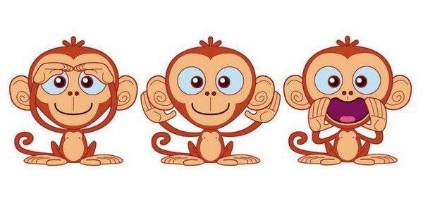 Le tre scimmiette