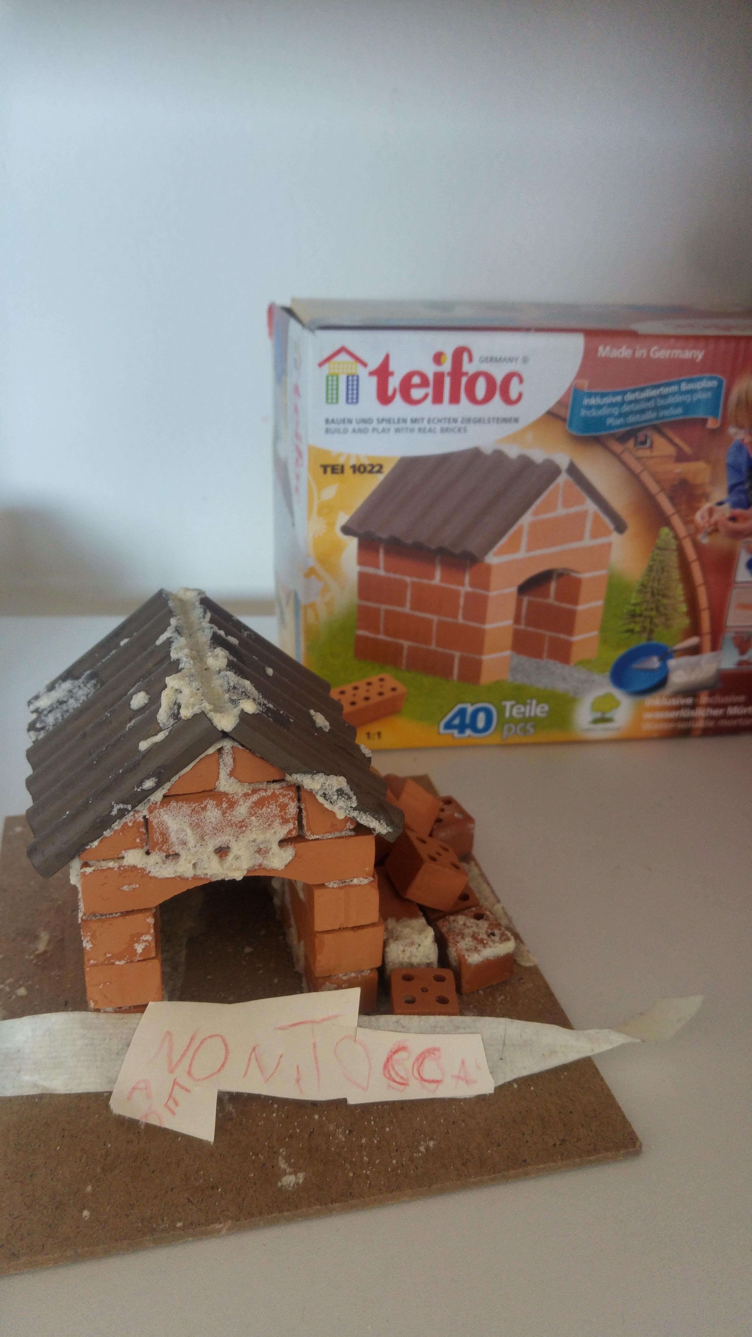 Casetta di mattoni da costruire - Imparare a scrivere