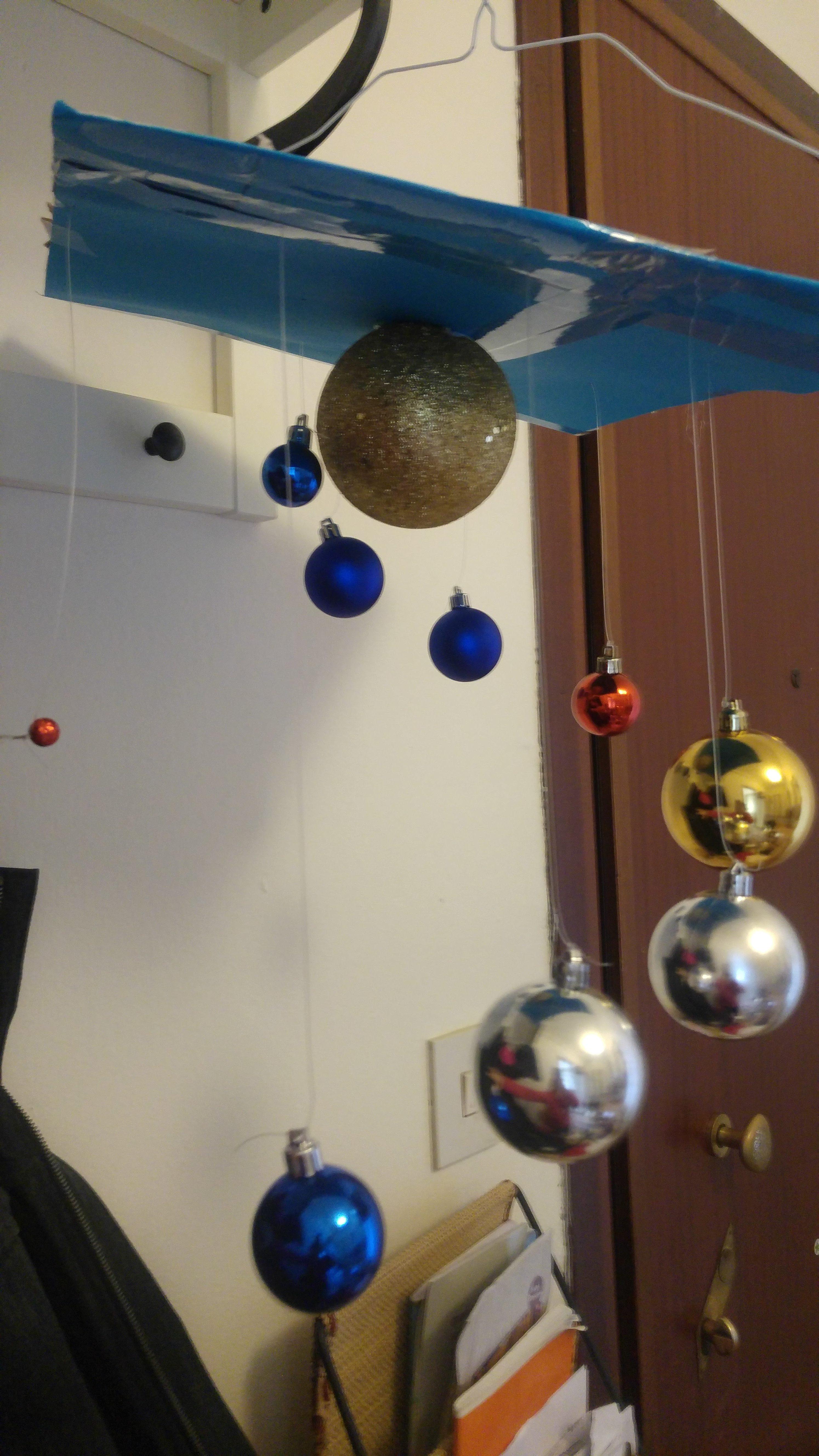 Sistema solare con palline di Natale
