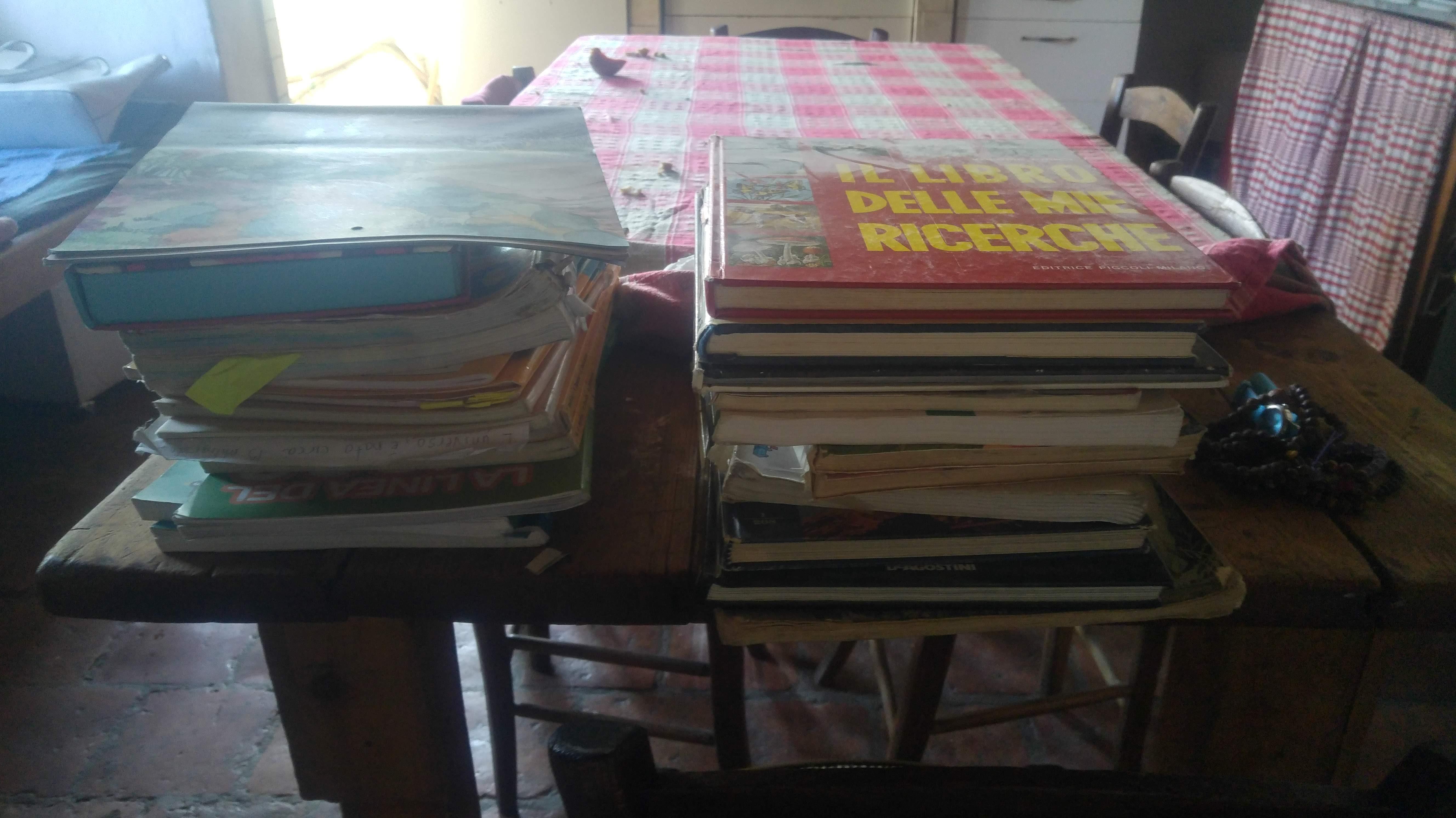 Homeschooling cosa ho imparato-libri vecchi regalati